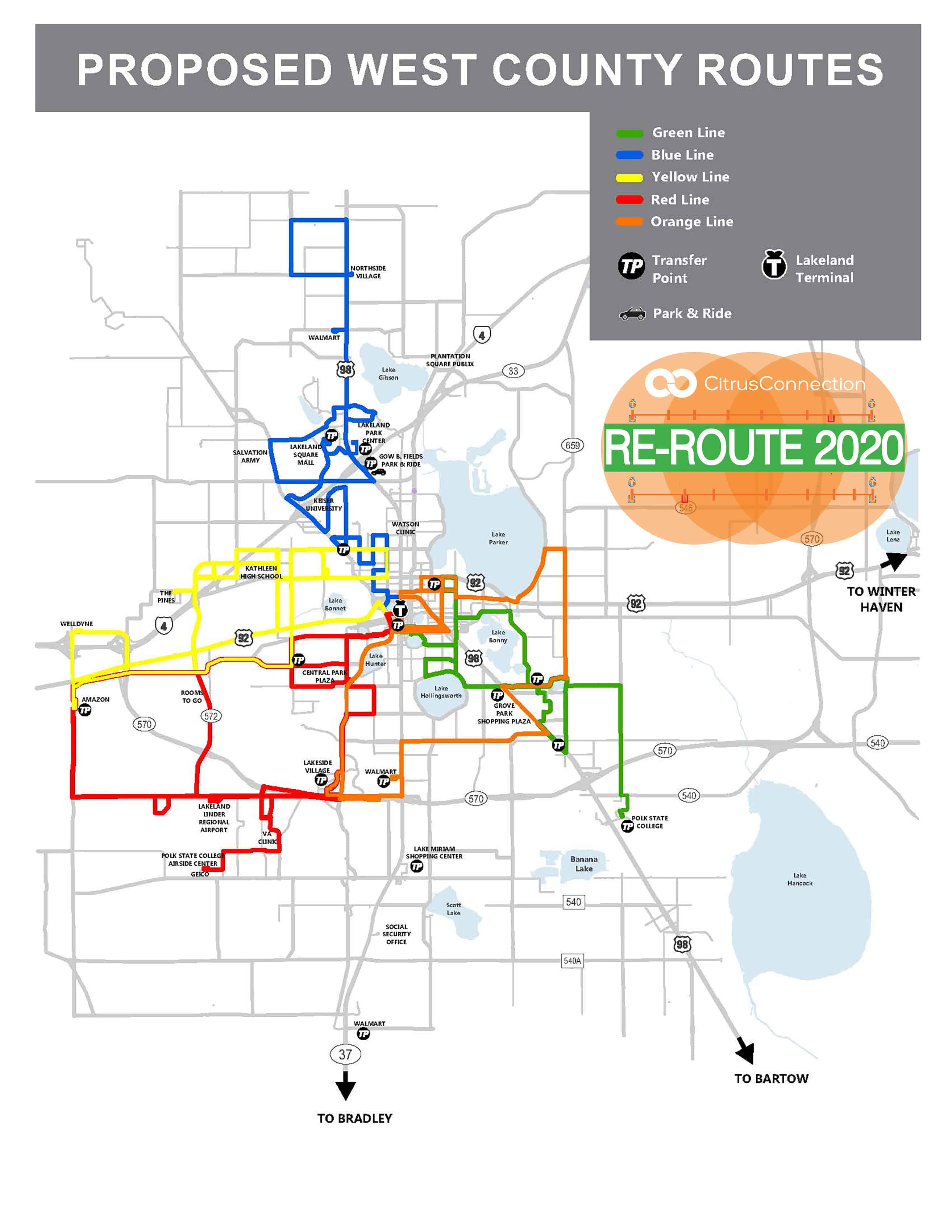 Proposed Lines - West County System Map-Oct 1-19