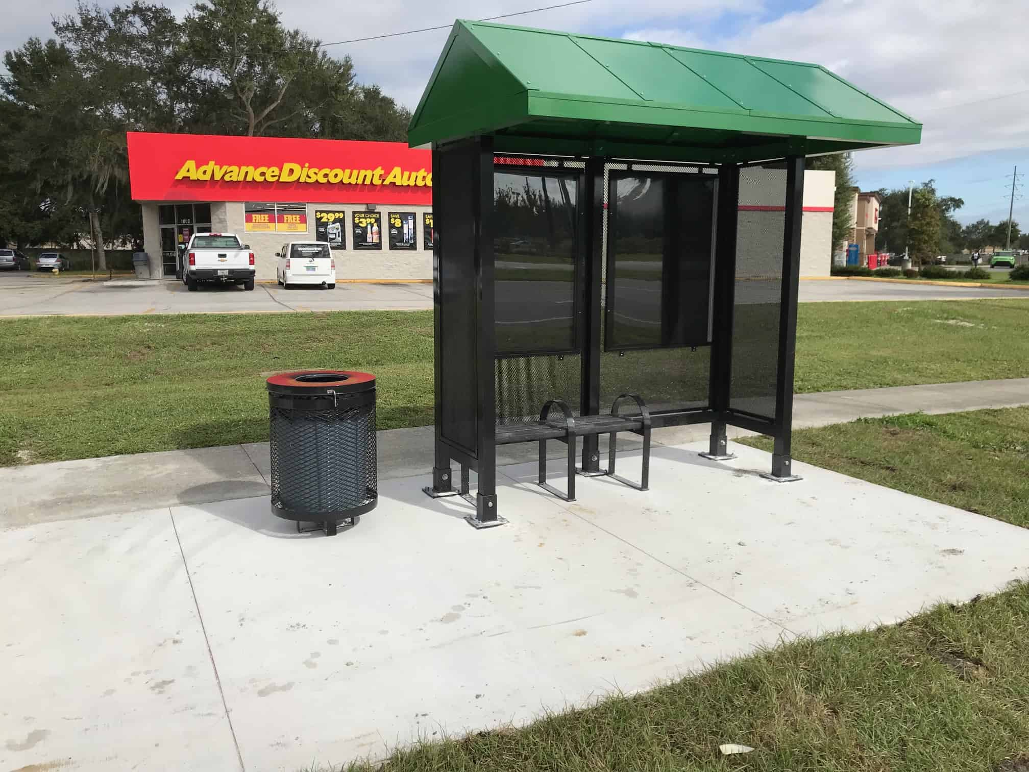 Advanced Auto New Shelter on west bound 1002 US 92