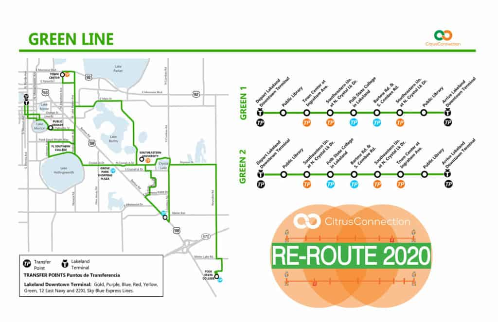 Green Line Map