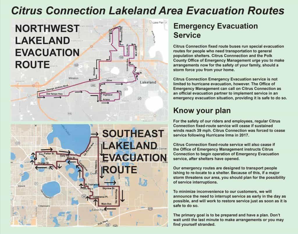 Lakeland Evacuation Route