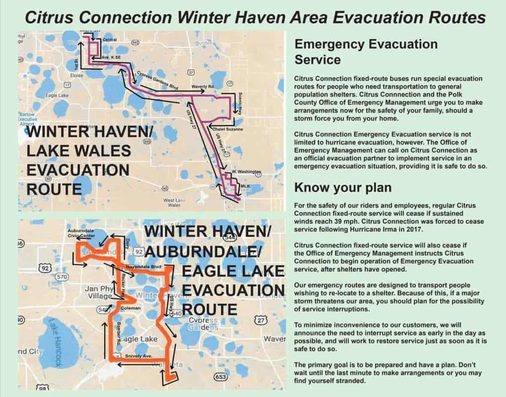 Winter Haven Evac Route
